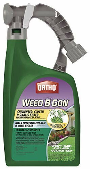 Ortho Weed B Gon Chickweed, Clover, Oxalis Killer for Lawns, 32 oz. Easy to Use