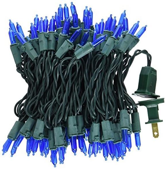 NOMA/INMLITEN-IMPORT 40844-88A, Blue, LED Traditional Mini Bulb Light Set