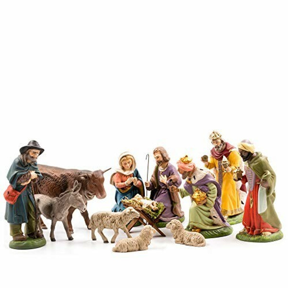 MAROLIN (#1511_40) Nativity Set, 12 pcs, to 4.75 in. Figures