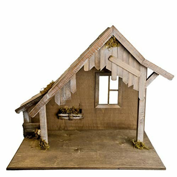 MAROLIN (#8099_80) Wooden Stable with Window, to 8.5 in. Figures