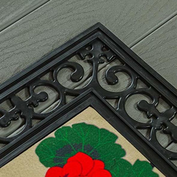 Evergreen Flag Fleur Scroll Durable Sassafras Welcome Mat Tray