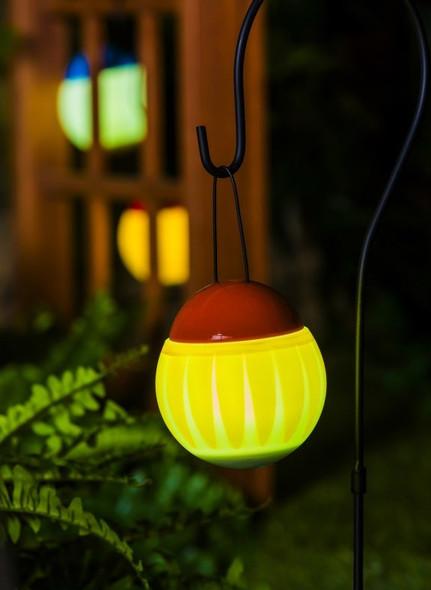 Evergreen Garden (#2SP5602) Jitterbug Sunflower LED Rechargeable Outdoor Lantern