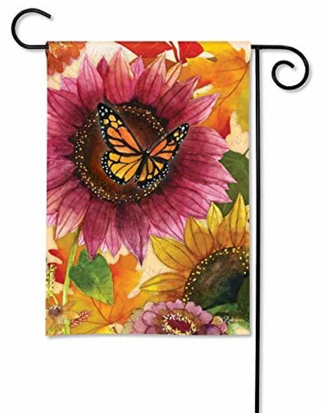 BreezeArt Studio M (#32137) Sunflower Butterfly Garden Flag,  12.5 x 18 Inches