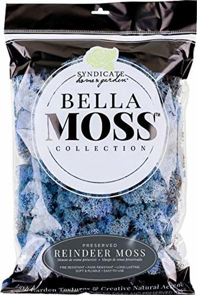 Bella Moss 1407101085 Reindeer Bag Moss, Lavender Blue