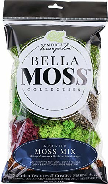 Bella Moss 1425121087 Moss Mix, 80 CU IN