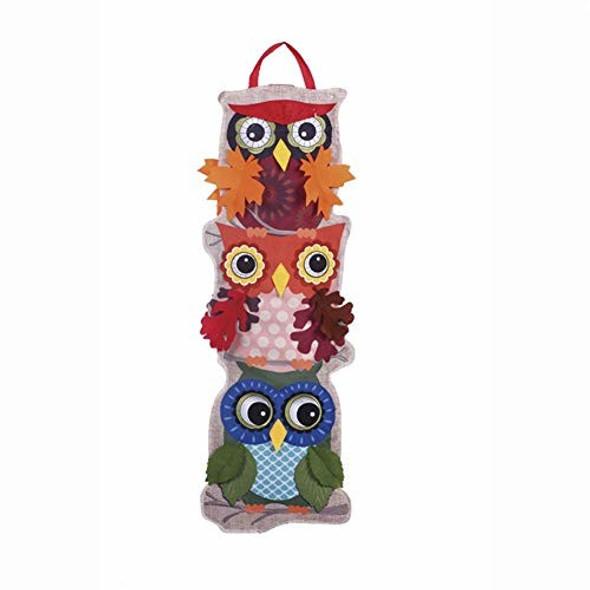 """Evergreen Statement Stake, 36"""" - Autumn Owls"""