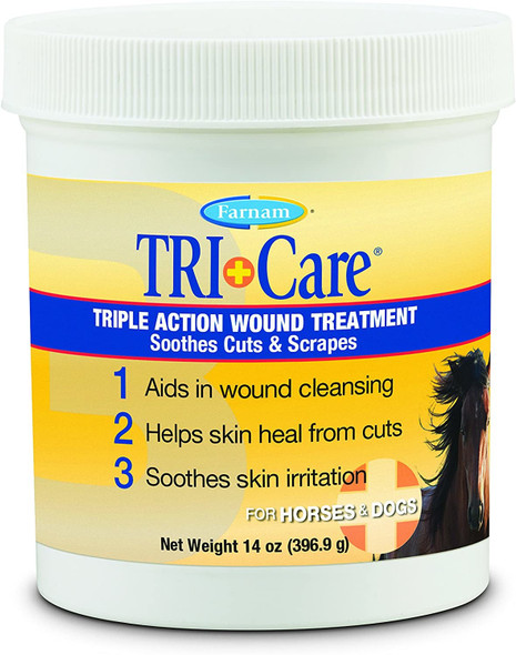 Farnam (#100505790) Triple Action Wound Care for Dogs & Horses, 14 0z