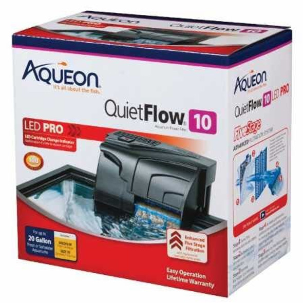 Aqueon (#100106080) QuietFlow 10 Aquarium Power Filter