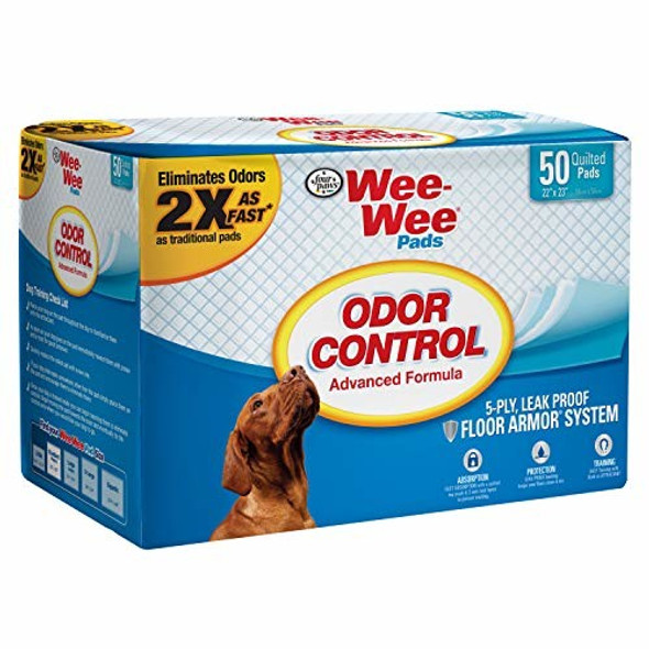 """Four Paws (#100516270) Wee Wee® Puppy Training Pee Pads, 22"""" x 23"""", 50 count"""