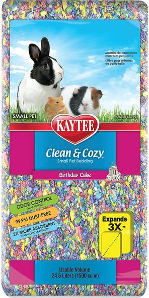 Kaytee (#100213643) Clean & Cozy Birthday Cake Small Animal Bedding, 24.6L
