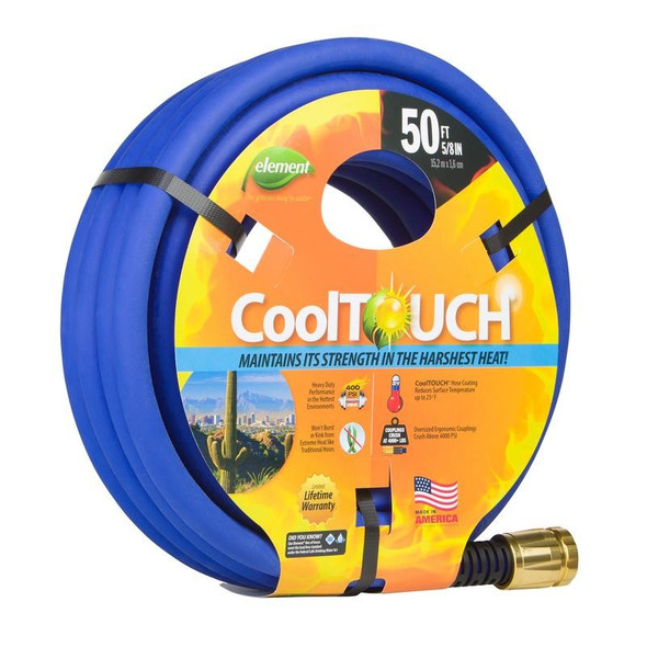 "Element (#CELCT58050) CoolTOUCH® Heavy-Duty Garden Hose, 5/8"" Dia. x 50' L"