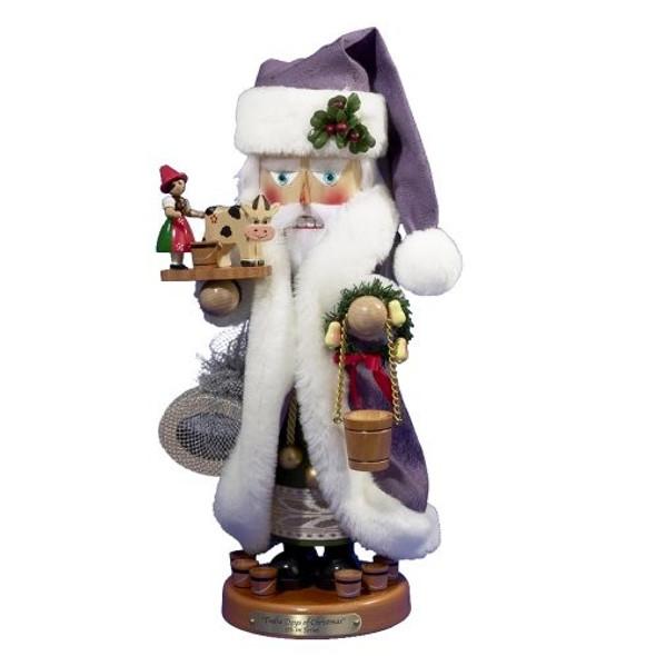 "Steinbach ES1885 Twelve Days of Christmas, Eight Maids a Milking Nutcracker, 18"""