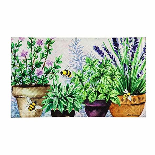 Evergreen Flag Garden Happy Place Embossed Floor Mat - 30 x 1 x 18 Inches