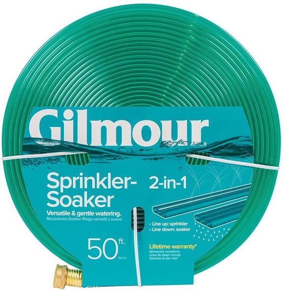 Gilmour 2-in-1 Sprinkler/ Soaking Hose, 50ft