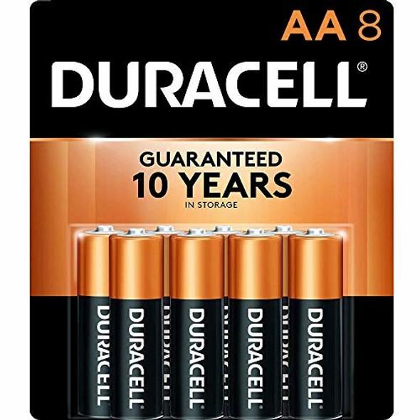 Duracell MN1500B8Z AA Alkaline Batteries, 8 count