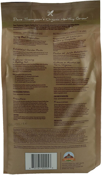 Dave Thompson's Organic Healthy Grow Rose and Flower Fertilizer, 6 lb