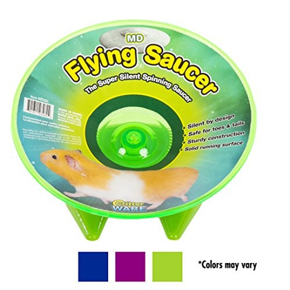 Ware Manufacturing Flying Saucer Exercise Wheel for Small Pets, Colors May Vary