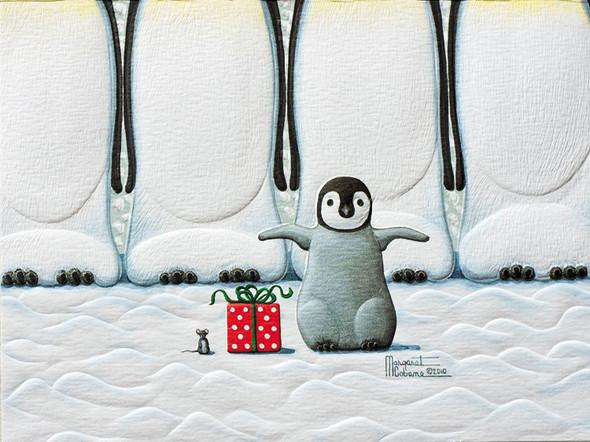 Pumpernickel Press Petite Boxed Christmas Cards, Little Penguin