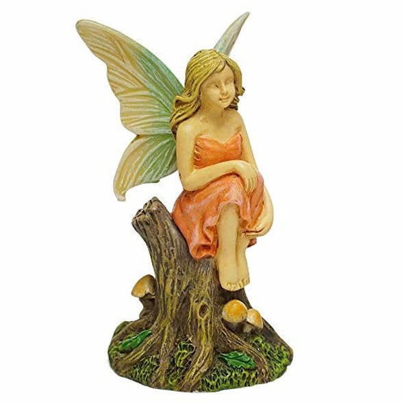 Marshall Home and Garden Reflective Fairy Forest Brown Resin Stone Statue