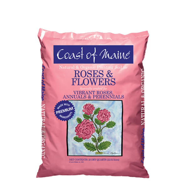 Coast of Maine Organic Rose and Flower Planting Soil 20 Qt