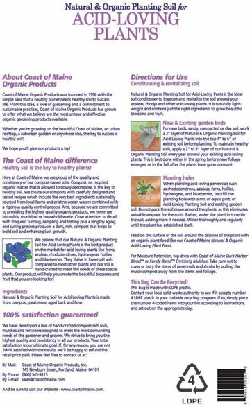 Coast of Maine Organic Acid Loving Planting Soil, 20 Qt