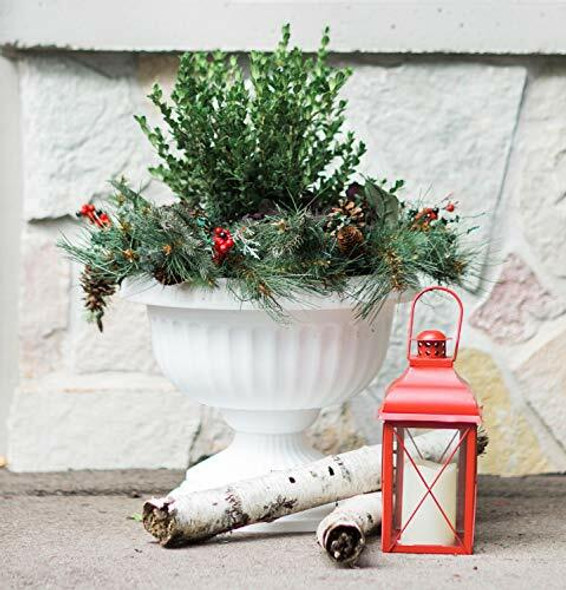 """Bloem GU18-09 Grecian Urn Planter 18"""" Casper White"""