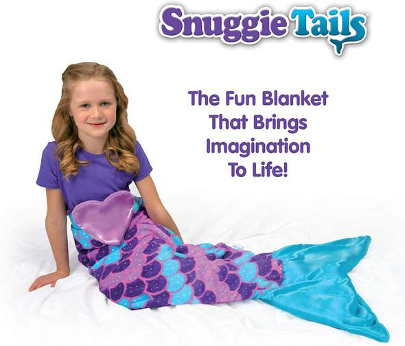 Mermaid Tail Snuggie Blanket, Purple