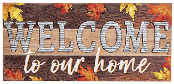 Darice 30107958 Tabletop Welcome Sign, 20-inch Length