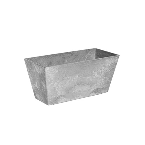 "Novelty Flower Box 14.5"" Grey"