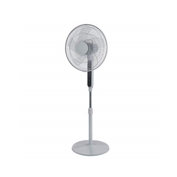 HP FS40-19PRD Programmable Stand Fan with Remote, White, 16-in. - Quantity 1