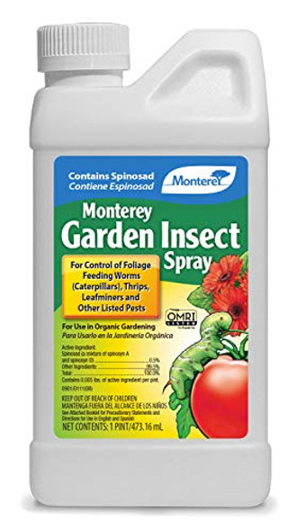 Monterey LG6150 Garden Insect Spray, Insecticide & Pesticide with Spinosad Concentrate, 16 Oz.