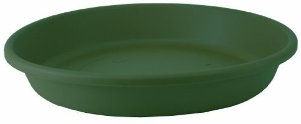 """Classic Round Planter Saucer - The HC Companies 14-Inch Flower Pot Drip Trays for Planters, Pairs w/ 14"""" Evergreen Classic Planter LIA14000B91 Evergreen (SLI14000B91)"""