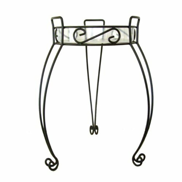 """River North Combo Top Plant Stand 21"""", Black"""