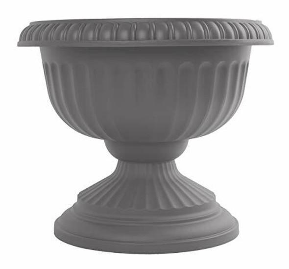 "Bloem GU18-908 Grecian Urn Planter 18"", Charcoal Gray"