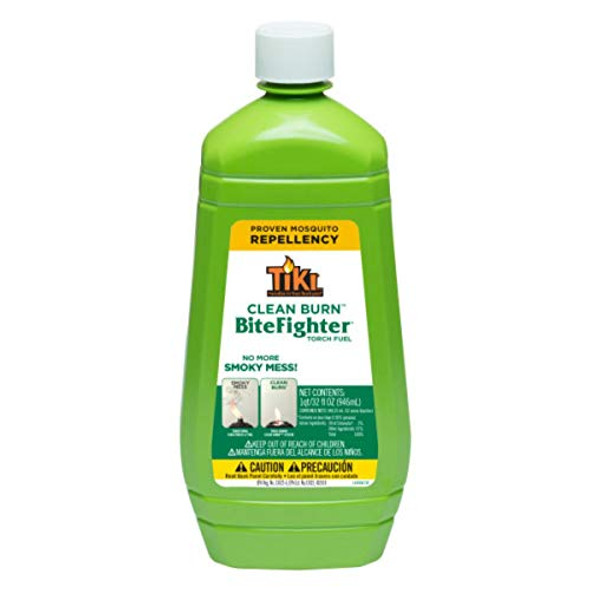 Tiki 1218071 Brand 32 oz. Clean Burn BiteFighter Fuel Torch Oil, 32 ounce