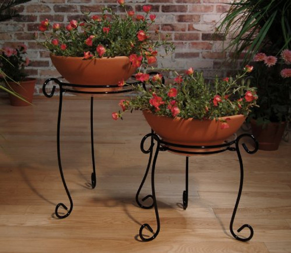 Plastec 18-Inch Black Simply Perfect Plant Stand PPS18BK