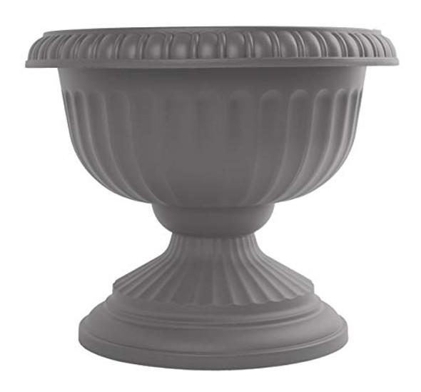 "Bloem GU12-908 Grecian Urn Planter 12"", Charcoal Gray"
