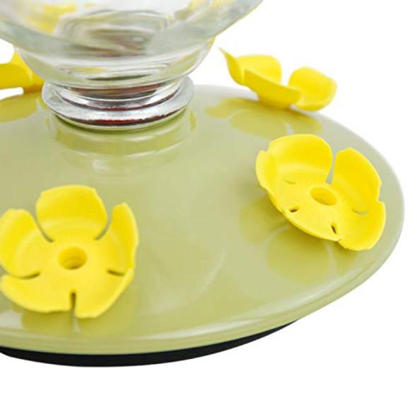 Perky-Pet 9108-2 Desert Bloom Top-Fill Glass Hummingbird Feeder Green 32 oz Capacity