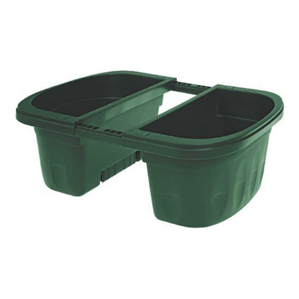"""Apollo Exports Double-Sided Adjustable Rail Planter, Green, 16"""""""