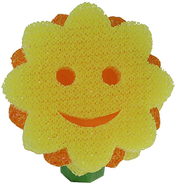 Scrub Daddy- Scrub Daisy Replacement Head - The Sunflower Pot & Pan Scourer, Deep Cleaning, Versatile, Flexible, Scratch Free, Dishwasher Safe, Stain and Odor Resistant - 1ct