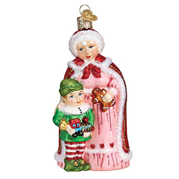 Old World Christmas (#10232) Mrs. Claus w/ Elf Ornament