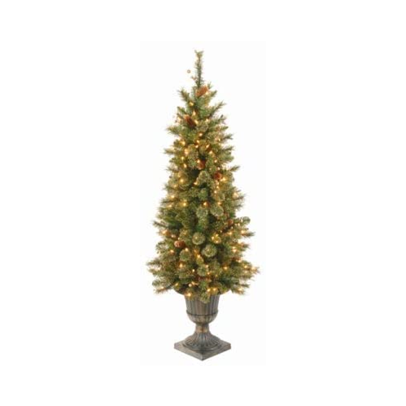 Holiday Wonderland 4', Golden Bristle Entrance Artificial Tree, Clear Lights