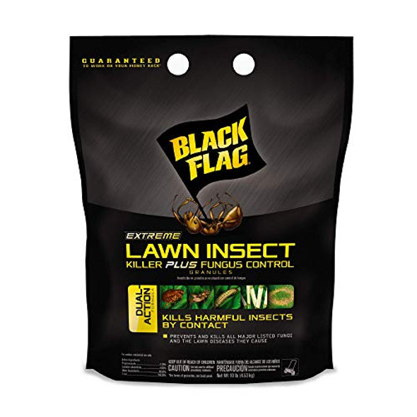 Black Flag Extreme Lawn Insect Killer Plus Fungus Control Granules, 10-Pound