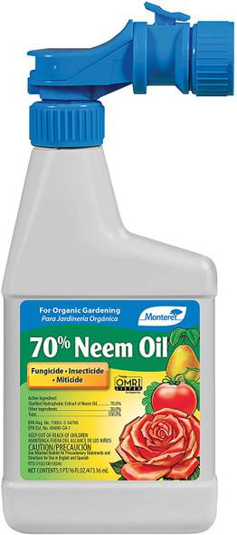 Monterey Lawn & Garden (#MLGNLG6145) RTU Insecticide 70% Neem Oil Spray Omri Pt