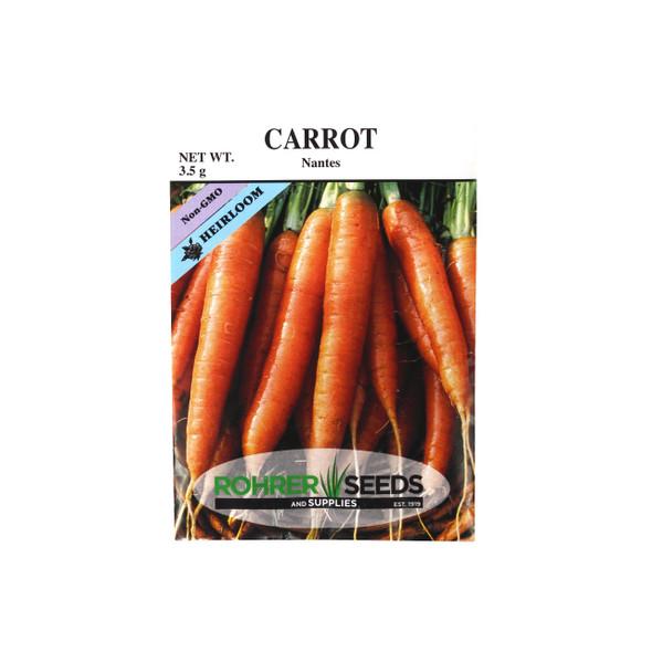 Rohrer Seeds Scarlet Nantes Carrot
