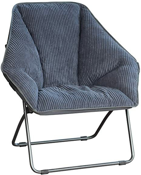 Gray Hexagon Folding Dish Chair - Re-boxed, may be missing tags