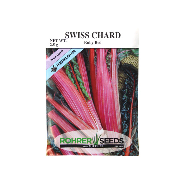 Rohrer Seeds Ruby Red Swiss Chard