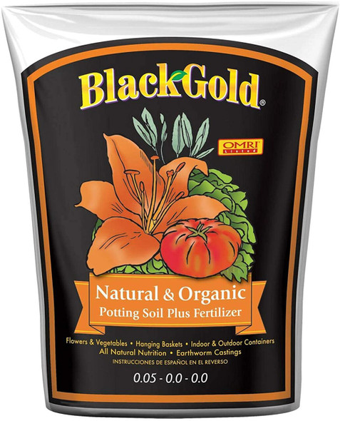 Sun Gro SUGRBG2 13020402 Black Gold Natural and Organic Soil, 2 CuFt, Damaged/Repaired