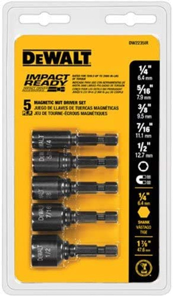 Dewalt Imapct Ready 5-Piece Magnetic Nut Driver Bit Set (#DW2235IR)
