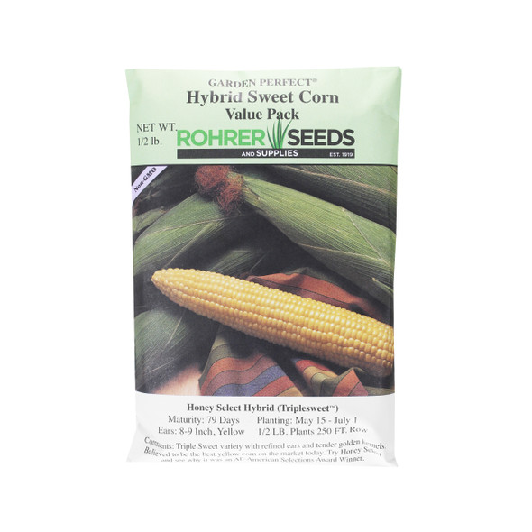 Rohrer Seeds Honey Select Hybrid (Triplesweet) Sweet Corn Value Pack